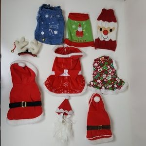 Dogs  Christmas outfits.